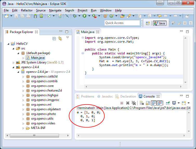 Introduction to Java Development — OpenCV 2 4 4 0 documentation