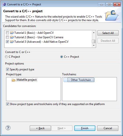 Configure CDT