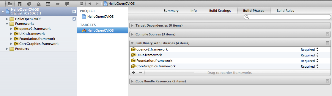 OpenCV iOS in Xcode