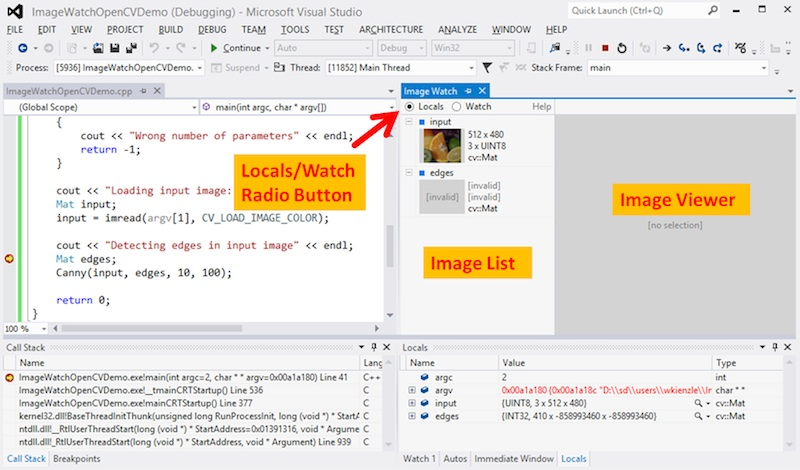 Image Watch: viewing in-memory images in the Visual Studio debugger