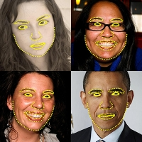 OpenCV: Face landmark detection in an image