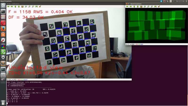 OpenCV: Interactive camera calibration application